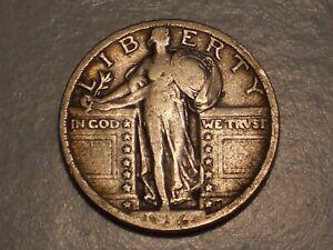 1924 Standing Liberty Quarter (Abt. VF & Attractive)