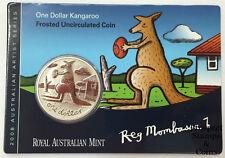 2008 Reg Mombassa Kangaroo Cupro Nickel Uncirculated Dollar Australian Coin