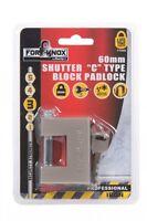 "Fort Knox 60MM Shutter ""C"" Type Block Padlock Shutters Sheds Gates Security"