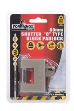 "Fort Knox 60MM Shutter ""C"" Type Block Padlock Shutters Sheds Gates Security"