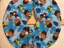 14� Diego Blue Christmas Tree Skirt made4u quilted Table top