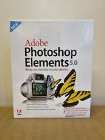 New Sealed Adobe Photoshop Elements 5.0 Photography Software