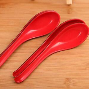 2Pcs Plastic Soup Rice Food Cooking Eating Serving Spoons Kitchen Utensil GR