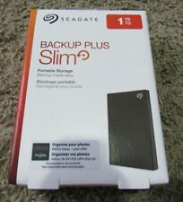 NEW Seagate Backup Plus Slim Portable 1TB External STHN1000400 Hard Drive  Black