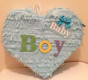 Baby Boy Heart Piñata