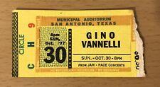 1977 Gino Vanelli San Antonio Concert Ticket Stub I Just Wanna Stop