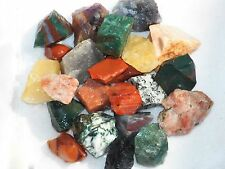 1/2 LB INDIA MIX  Rough Tumbling Rock Amethyst Agate Tourmaline Quartz FS