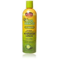 [AFRICAN PRIDE] OLIVE MIRACLE ANTI-BREAKAGE MOISTURIZER LOTION 12OZ HAIR STYLING