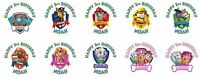 30 Paw Patrol Birthday Stickers Lollipop Labels Party Favors 1.5 in ANY VARIETY