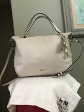 Coach  Madison Lenox Kelsey Bennett Creme Satchel Crossbody Handbag Leather