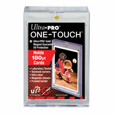 Lot of (5) ~ Ultra Pro 1 One Touch Magnetic Card Holders ~ 180pt (Super Thick)