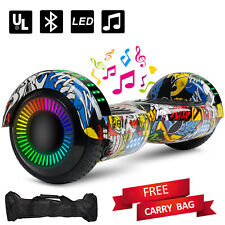 """6.5"""" Off Road Hoverboard Electric Self Balancing Scooter Led Free Bag Bluetooth"""