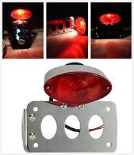 Custom License Plate Bracket Tail Light LED Brake Light For Harley Bike Chopper