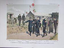 GRAVURE 1892 ORDRE DE MALTE SERVICE SANITAIRE  GUERRE ITALIE  AVEC FASCICULE