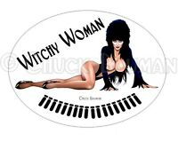 Bomber Girl Pin-Up Sticker Elvira WITCHY WOMAN X sexy babe pinup sticker decal