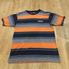 Vintage 90s Adidas Striped T Shirt Tee Embroidered Logo Adidas Originals