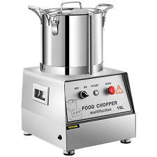Vevor 15l Food Processor Commercial Grade Food Grinder Blender High Output 1400w