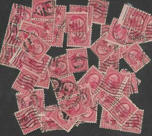 Postage Stamps For Crafting: 1932 2c George Washington; Red; 50 Pieces