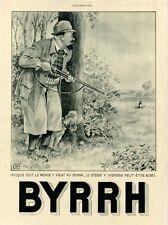 """""""BYRRH"""" Annonce originale entoilée  L'ILLUSTRATION  1930 Georges LEONNEC"""