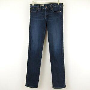 Adriano Goldschmied The Stilt Cigarette Denim Blue Jeans Dark Wash 27R