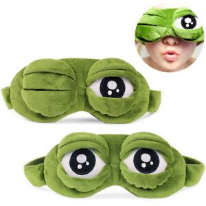 Premium Travel Eye Sleeping Mask Soft Cover Blindfold Resting Aid Pepe the frog