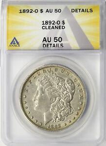 1892-O $1 Morgan Dollar ANACS AU50 Details Cleaned