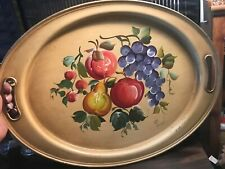 Vintage Metal Tray Hand Painted  Nashco Products New York