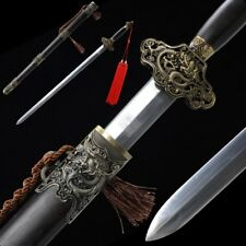 Dragon days sword Hand Forged High Quality pattern steel Alloy Fittings #5054
