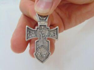 Da Uomo Artigianale Argento Sterling Crocifisso Pendente a Croce Gesù Arcangelo