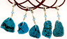 Arizona Kingman Turquoise Unisex Wirewrap Necklace Leather Cord Healing Crystal