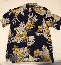 Funky Hawaii Camicia Hawaii Camicia S-XL isola Marroni Blu