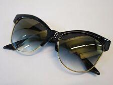 DITA TEMPTATION Cat Eye Black Gold Grey Gradient Glasses Eyewear Sunglasses NEW