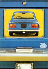 Fiat 124 Sport Coupe 1972 UK Market Sales Brochure 1400 1600