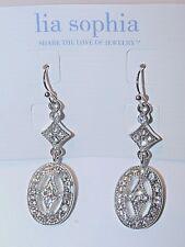 Beautiful Lia Sophia FANTASIA Dangle Earrings, Cut Crystals, NWT