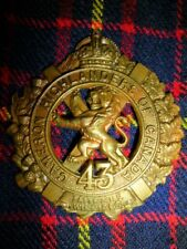CEF WW1 - 43rd Battalion (Cameron Highlanders of Canada) Cap Badge