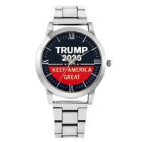 Trump 2020 Wristwatch Men's Watch Silver Alloy Band Analog Quartz Wrist Watches