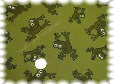 Jimmy Frog Baumwolle Popeline  grün (khaki) Hilco 0,5 m Meterware Kleiderstoff