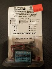 LXS 21 LITHIUM BATTERY SUPERVISOR FOR ALL LOW TO MED POWERED R/C AIRCRAFT NIB