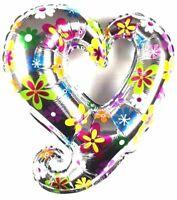 3 Stück not Helium balloon Valentinstag Folienballon Herz Blumen Hochzeit Deko
