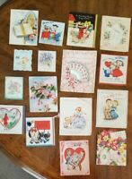 Lot of 28 Vintage Collectible Crafters Assorted Greeting Cards Dated in 1940's