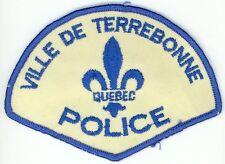 Ville de Terrebonne Police, Quebec, Canada HTF Vintage Uniform/Shoulder Patch