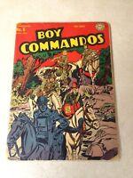 BOY COMMANDOS #6 KIRBY SIMON, 1944, WWII, JACKALS OF JAWNPORE!!