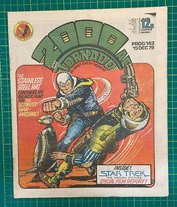 Bagged & Boarded 2000 AD Comic Prog 143 - 15 Dec 1979 - Ref 2K274