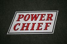 "Caltex / Texaco ""Power Chief"" self-adhesive vinyl decal for petrol bowser / pump"