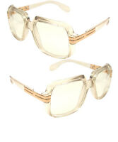 Clear frame Clear Lens Hipster Square Sun Glasses with Metal Accent
