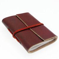 Fair Trade Eco Friendly Handmade Mini Single Bound Plain Leather Notebook