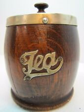 Antique Victorian 19c TEA Caddy Box EPNS Wood Porcelain Ornate Decorative Arts