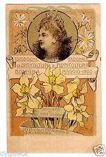 POSTCARD ITALIAN 1900 BOLOGNA FLOWER & HORTICULTURE SHOW QUEEN AS PATRON