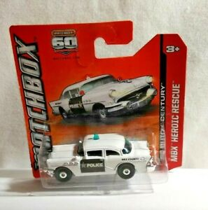 MATCHBOX MBX HEROIC RESCUE DIECAST 1956 BUICK CENTURY POLICE CAR FACTORY SEALED