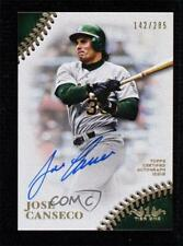 2018 Topps Tier 1 Prime Performers 142/285 Jose Canseco #PPA-JC Auto